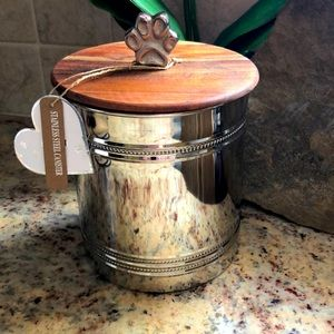 Stainless steel canister/jar for your furry friend